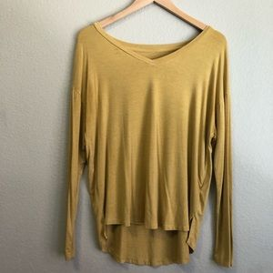 mossimo mustard yellow long sleeve shirt